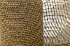 Fondo de la textura de la arpillera Imagenes de archivo