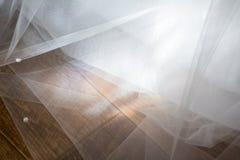 Fondo de la textura de la gasa de Tulle Concepto de la boda Imágenes de archivo libres de regalías