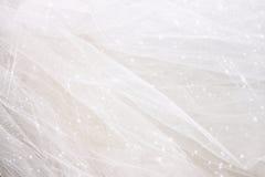 Fondo de la textura de la gasa de Tulle del vintage con la capa del brillo Concepto de la boda fotografía de archivo libre de regalías
