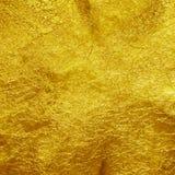 Fondo de la textura de la hoja de oro Fotos de archivo libres de regalías