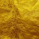 Fondo de la textura de la hoja de oro Foto de archivo libre de regalías