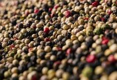 Fondo de la textura de la mezcla del grano de pimienta imagen de archivo