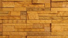 Fondo de la textura de la pared de piedra de Brown Imagenes de archivo