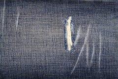Fondo de la textura de la tela de los tejanos Fotos de archivo libres de regalías