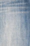 Fondo de la textura de la tela de los vaqueros Fotografía de archivo