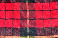 fondo de la textura de las lanas del tartán del modelo del cuadrado rojo Fotografía de archivo