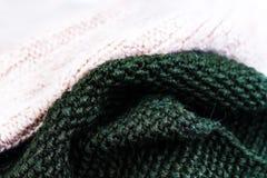 Fondo de la textura de las lanas que hace punto T horizontal hecho punto colorido Fotografía de archivo