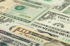 Fondo de la textura de los billetes de banco del dinero del dólar de los E.E.U.U. Fotos de archivo libres de regalías