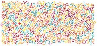 Fondo de la textura del alfabeto hebreo ilustración del vector
