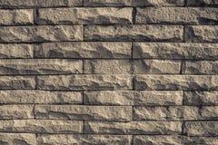 Fondo de la textura del ladrillo de la pared de Brown Fotografía de archivo libre de regalías