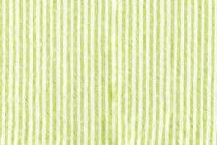 Fondo de la textura del mantel de las tiras del verde Fotos de archivo libres de regalías