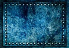Fondo de la textura del metal con el tornillo fotografía de archivo