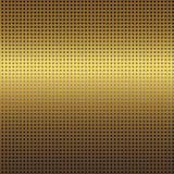 Fondo de la textura del metal del oro con el modelo inconsútil de la rejilla negra Fotografía de archivo libre de regalías