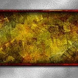 Fondo de la textura del oro de Grundge stock de ilustración
