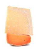 Fondo de la textura del queso. Cierre para arriba. Imagenes de archivo