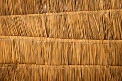 Fondo de la textura del tejado de la hierba seca imágenes de archivo libres de regalías