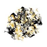Fondo de la textura que vetea Bandera de oro del mármol del brillo en blanco Diseño que vetea abstracto para la bandera, aviador Imágenes de archivo libres de regalías