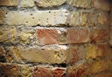 Fondo de la textura roja del modelo de la esquina de la pared de ladrillo Imagen de archivo libre de regalías