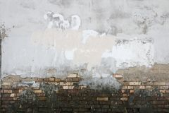 Fondo de la textura de la suciedad de los ladrillos del yeso de la pared del oncrete del ¡de Ð imagen de archivo