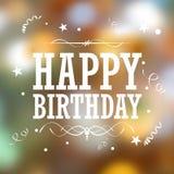 Fondo de la tipografía del feliz cumpleaños Imagen de archivo