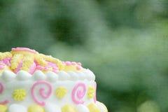 Fondo de la torta de cumpleaños Fotografía de archivo