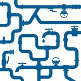 Fondo de la tubería del agua Imagenes de archivo