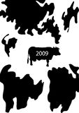 Fondo de la vaca ilustración del vector