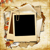Fondo de la vendimia con el marco polaroid Fotografía de archivo libre de regalías