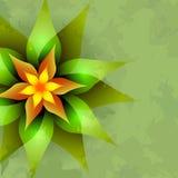 Fondo de la vendimia con la flor abstracta Imágenes de archivo libres de regalías