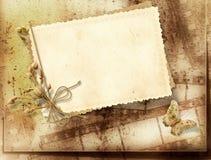 Fondo de la vendimia con la tira de la película para las invitaciones Fotografía de archivo libre de regalías