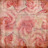 Fondo de la vendimia con las rosas Foto de archivo