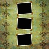Fondo de la vendimia con los marcos Foto de archivo