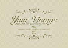 Fondo de la vendimia con los ornamentos Imagen de archivo libre de regalías
