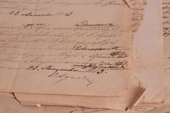 Fondo de la vendimia con los papeles viejos Fotografía de archivo