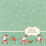 Fondo de la vendimia de la Navidad Fotografía de archivo libre de regalías