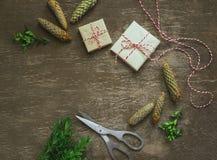 Fondo de la vendimia de la Navidad Foto de archivo