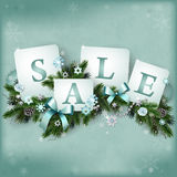 Fondo de la venta de la Navidad Imagen de archivo libre de regalías