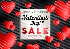 Fondo de la venta del día de tarjetas del día de San Valentín stock de ilustración