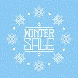 Fondo de la venta del invierno imagen de archivo