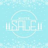 Fondo de la venta del invierno imágenes de archivo libres de regalías