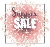 Fondo de la venta del verano para la impresión, el diseño web y las banderas Fotos de archivo libres de regalías