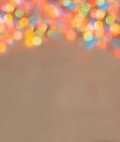 Fondo de la vertical de las luces de la Navidad de Blured Imágenes de archivo libres de regalías