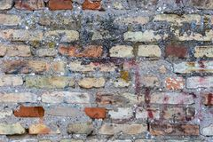 Fondo de la vieja textura del modelo de la pared de ladrillo Fotos de archivo