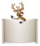 Fondo de la voluta del reno de la Navidad Imagenes de archivo