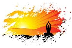Fondo de la yoga Fotos de archivo