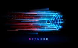 Fondo de la zona de la antena de Wifi gratis Símbolo de Wi-Fi stock de ilustración