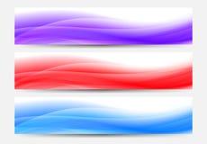 Fondo de las banderas del web en azul, rojo y púrpura Imagenes de archivo
