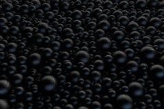 fondo de las bolas 3d Esferas brillantes con las sombras Imagenes de archivo