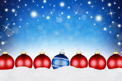Fondo de las bolas de la Feliz Navidad Fotografía de archivo libre de regalías