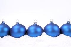 Fondo de las bolas de la Navidad Foto de archivo